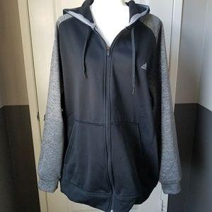Adidas Climawarm Black Gray Zip Up Sweatshirt